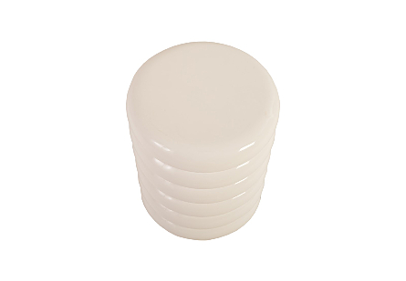 Ribbed Stool Gel Coat White