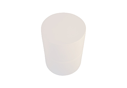 Stacked Stool Gel Coat White
