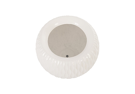 Ripple Planter Gel Coat White