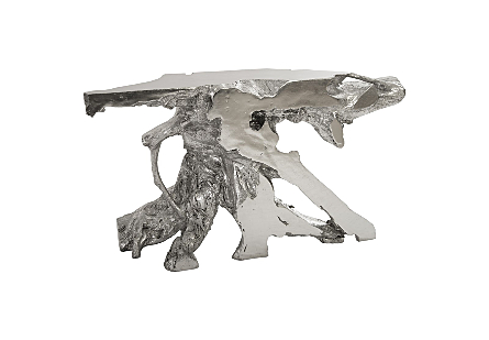 Eli Freeform Console Table Silver Leaf