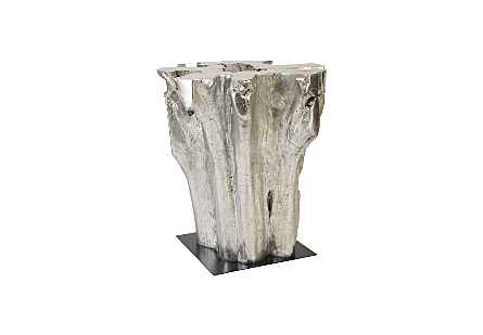 Freeform Bar Table Silver Leaf