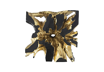 Freeform Coffee Table Black, Gold Leaf