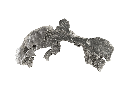 Burled Root Wall Art Medium, Silver Leaf