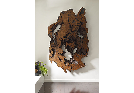 Burled Root Wall Art Large, Faux Bois Finish