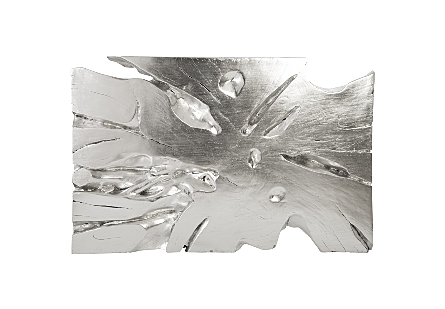 Freeform Wall Art Large, Silver Leaf