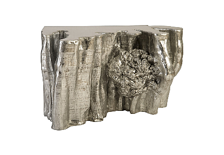 Giant Root Corner Table Silver Leaf