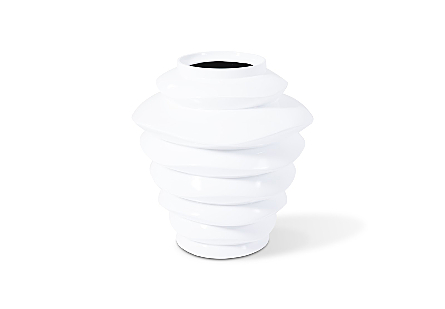 Spiral Planter Tall White