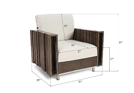 Barcode Club Chair White Cushion
