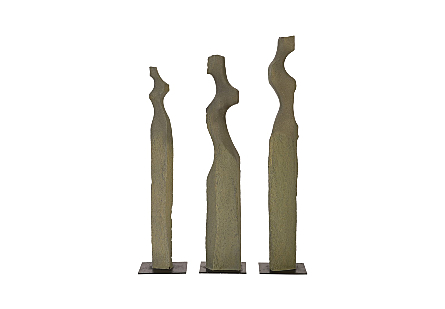 Cast Women Sculptures Set of 3