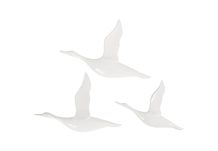 Flying Ducks Gel Coat White, Set of 3