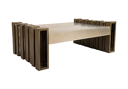 Barcode Coffee Table Mohogany/SS