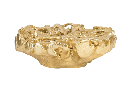 Root Coffee Table Antique Gold Leaf, SM, Round