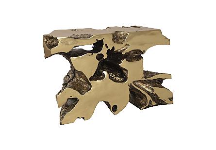 Venice Freeform Console Gold Leaf