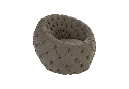 Egg Chair Ramie Grey