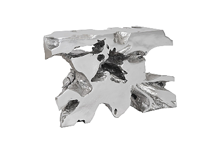 Venice Freeform Console Silver Leaf