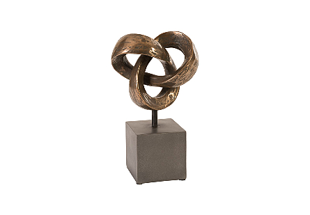 Trifoil Table Sculpture Bronze
