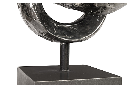 Trifoil Table Sculpture Liquid Silver