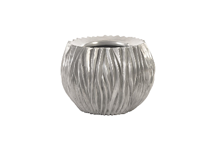 Alon Planter Polished Aluminum