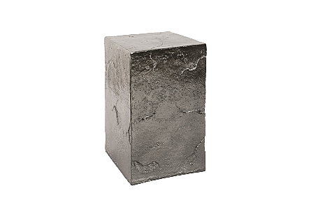 Slate Pedestal Medium, Liquid Silver