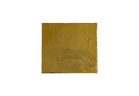 Slate Pedestal Medium, Liquid Gold