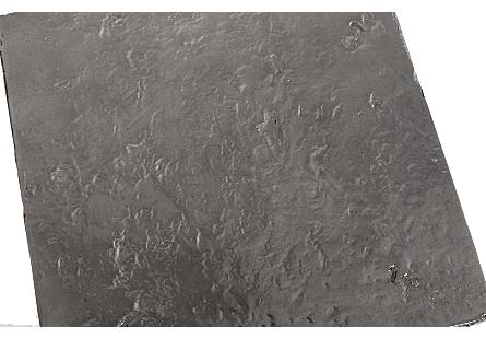 Slate Pedestal Large, Liquid Silver