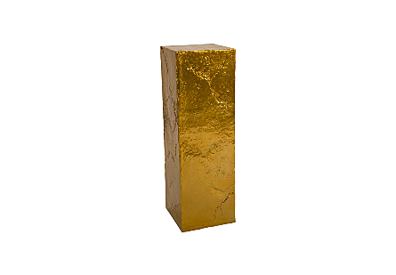 Slate Pedestal Large, Liquid Gold