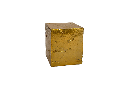 Slate Pedestal Small, Liquid Gold