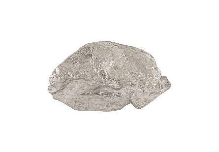 Boulder Wall Art Silver Leaf