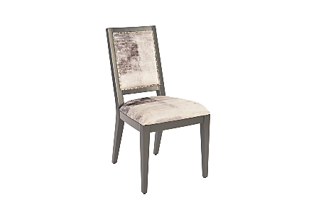 Mesmerize Dining Chair Mist Gray, Gray Wooden Legs