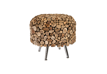 Montserrat Round Side Table SS Legs