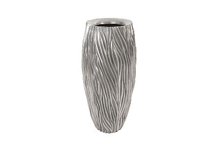 Alon Planter Polished Aluminium