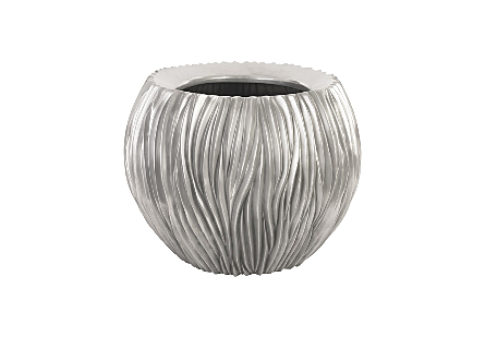 Alon Bowl Polished Aluminium