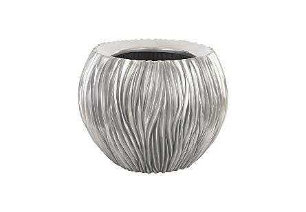 Alon Bowl Polished Aluminium