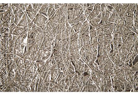 String Theory Pedestal Silver Leaf, LG