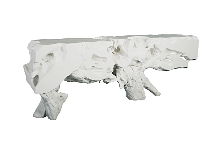 Freeform Console Table XL Gel Coat White