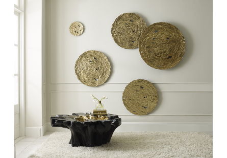Molten Disc Wall Art Gold Leaf, SM