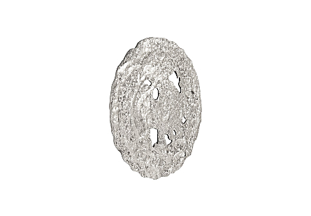 Molten Disc Wall Art Silver Leaf, SM