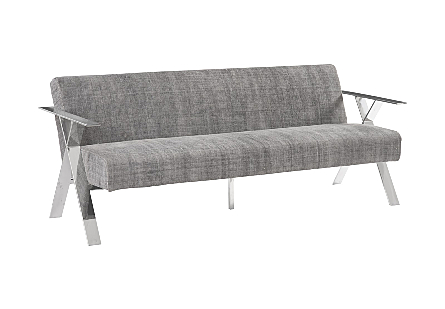 Allure Sofa Chalet Black, Stonewashed, Stainless Steel Frame