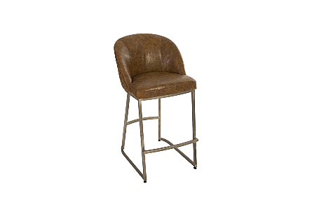 Maverick Bar Stool Quilted Cognac