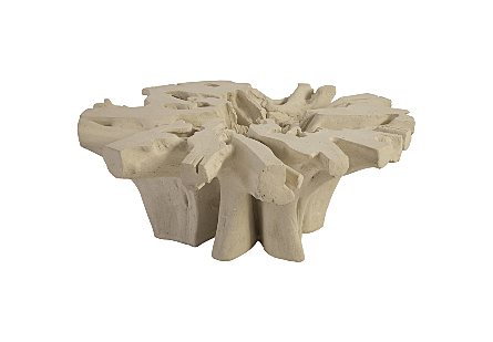 Freeform Coffee Table White Stone