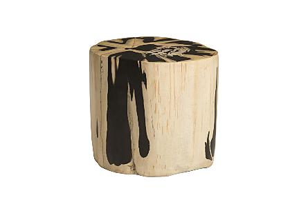 Cast Petrified Wood Stool Resin