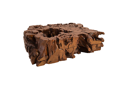 Freeform Burled Coffee Table Faux Bois