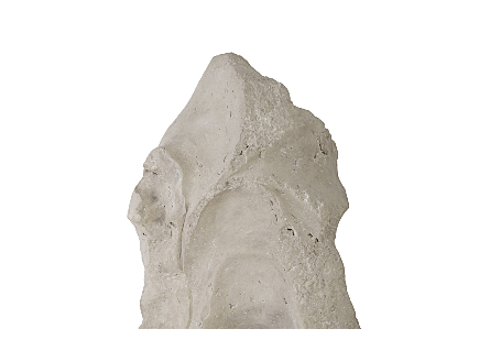 Colossal Cast Stone Sculpture Single Hole, Roman Stone