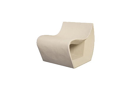 Cast Smooth Chair White Stone