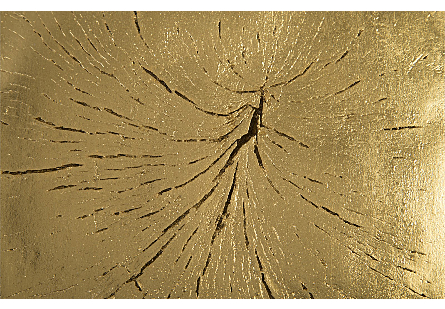 Log Wall Tile Gold Leaf
