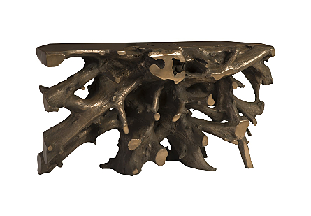 Cast Root Console Resin, Bronze