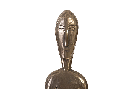 Bulol Sculpture Polished Bronze, SM
