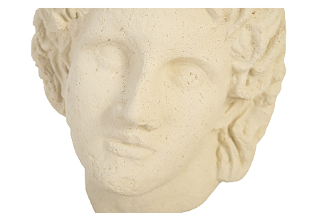 Alexander Bust on Base White Stone