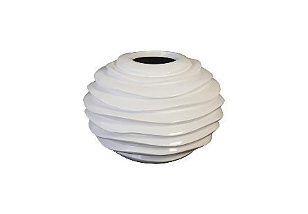 Spiral Planter White, SM