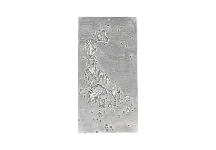 Splotch Wall Art Rectangle, Silver Leaf